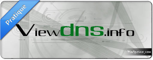 ViewDNS.info - La boite à outils des serveurs et noms de domaine