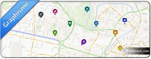 Map Icons Designer – Pack gratuit d'icones et de pointeurs