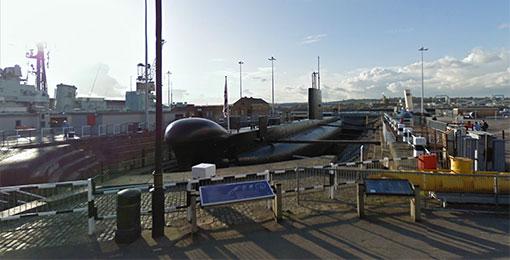 Visite d'un sous-marin avec Google Maps