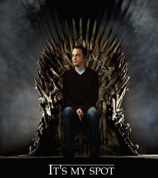 Sheldon Cooper nouveau roi de Games of Thrones