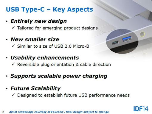 Caractéristiques USB 3.1 type-C