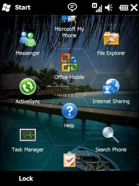 Interface Windows mobile 6.5