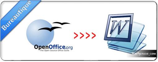 Convertir un fichier ODT OpenOffice en DOC Word