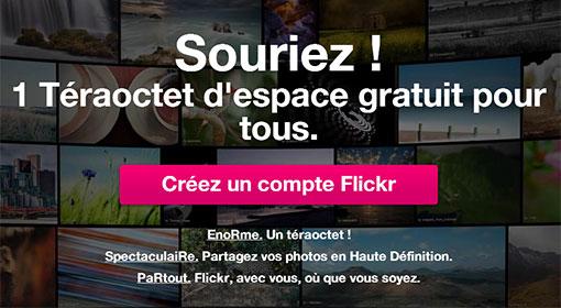 Flickr - 1 Téraoctet d'espace pour stocker vos photos