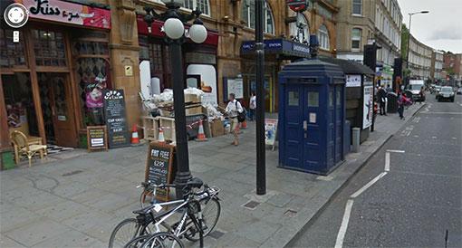 Le TARDIS du Dr Who dans Google Maps