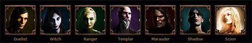 Personnages de Path of Exile