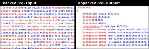 Dé-minifier du code CSS