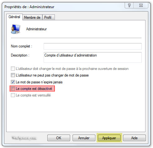Activer le mode Super Administrateur de Windows 8
