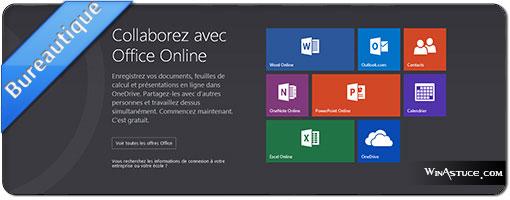 Office Online, profitez-en c'est gratuit