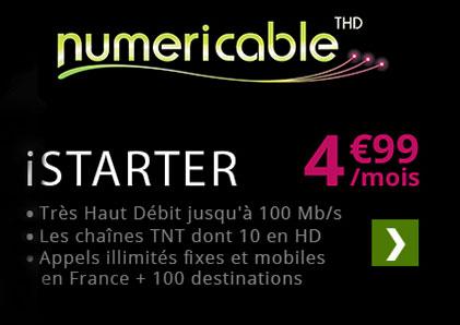 Forfait iSTARTER fibre Numericable
