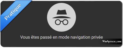 Démarrer Google Chrome automatiquement en mode navigation privé